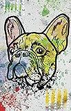 French Bulldog Poster - Animal illustration / Vibrant Color / Dog / Frenchie / Breed