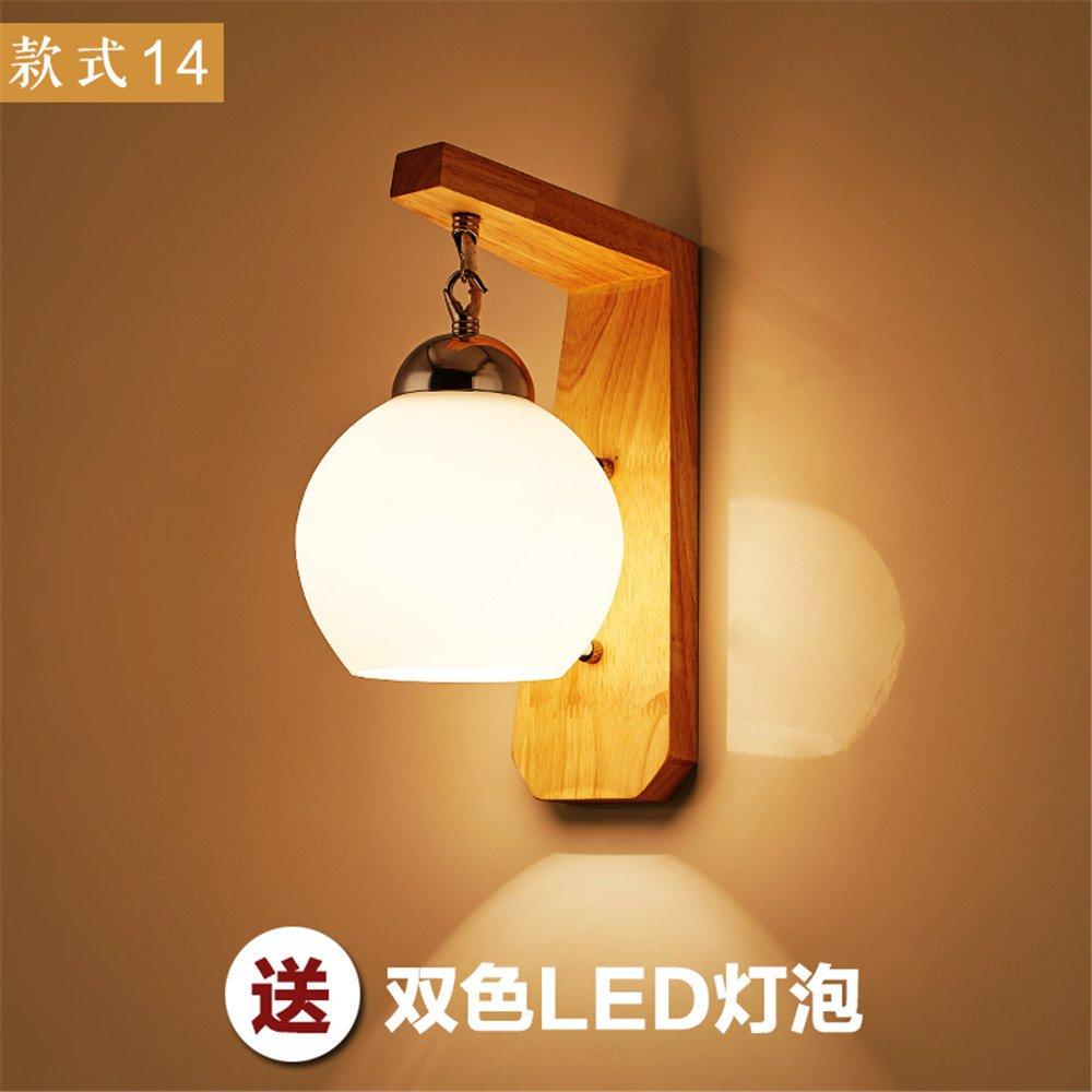 DengWu lampada da parete Comodino scala corridoio camera da letto minimalista-Giappone-cina Nordic legno arte del vetro lampada da parete a LED