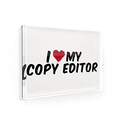 Amazon com: Fridge Magnet I heart love my Copy Editor - NEONBLOND