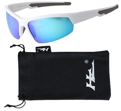 VertX polarisé Neon lunettes de soleil Sport cyclisme en cours d'exécution en plein air – Neon Cadre bleu – Lentille bleu fMaPV