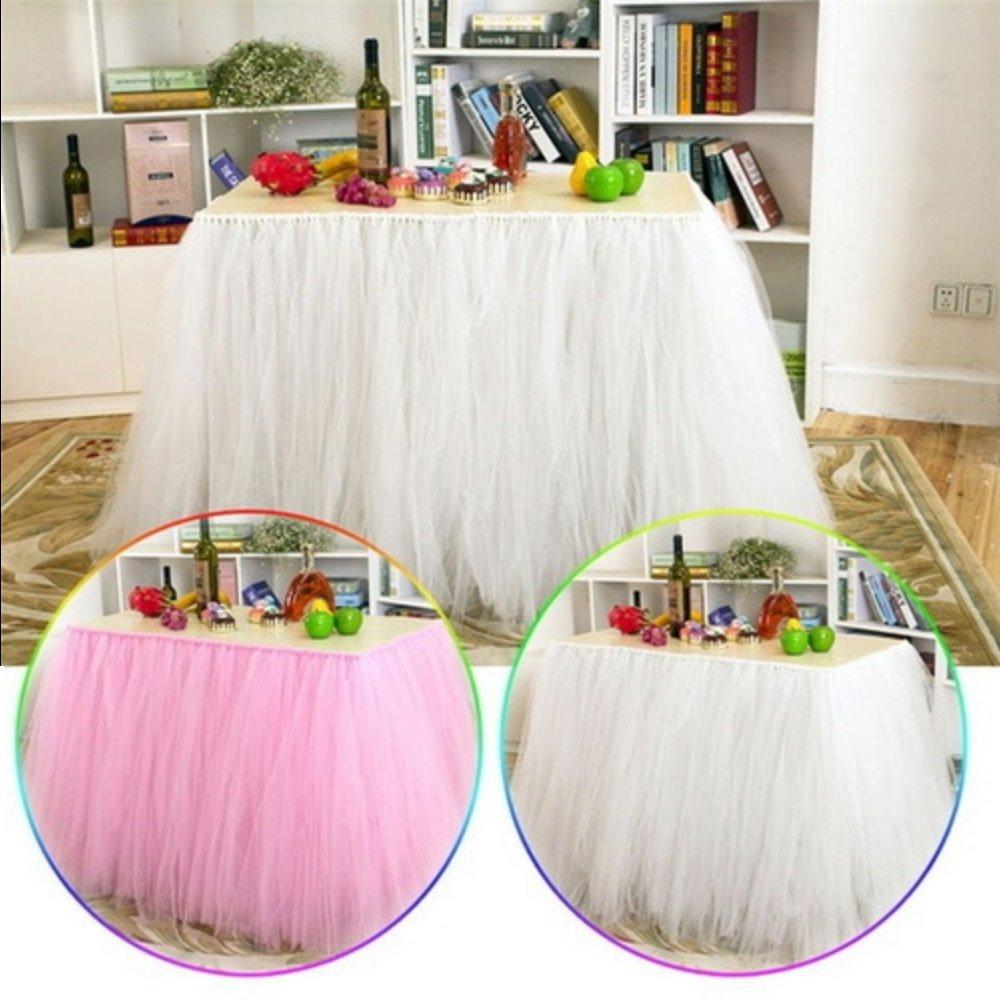 Joybuy mesa de tutú de tul falda de tul faldas para decoración de la boda Baby Shower Fiesta Boda cuadro–home textile
