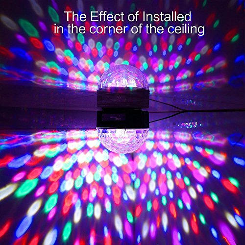 YouOKLight Sound Activated 6 Color LED Music Crystal Magic Ball MP3 Disco DJ Stage Lighting with Remote Control for Home Room Dance party Birthday Gift Kids Club Wedding Decorations by YouOKLight (Image #9)