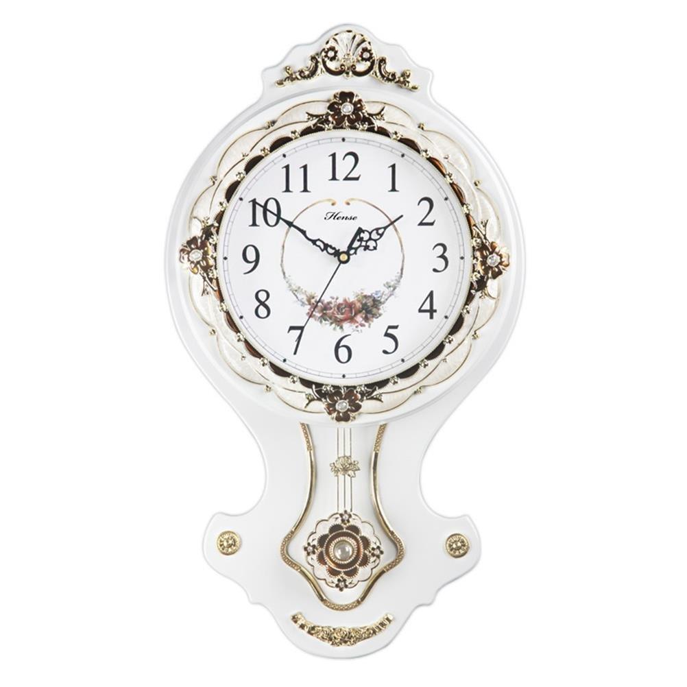 HENSE CLOCKS(ハンセ) 掛け時計 振子時計 HP03-C-01 白い B01CV6Y5Y2 HP03-C-01 白い HP03-C-01 白い