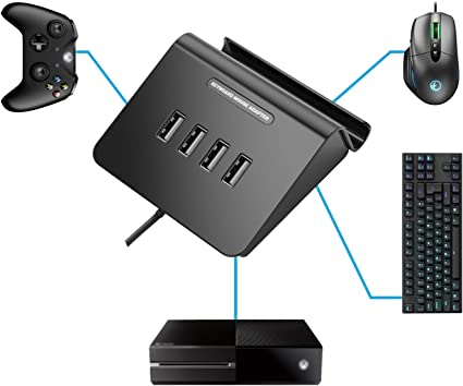 IFYOO® KMAX1 - Adaptador de Teclado y ratón para PS4, Xbox One, PS3, Compatible con PUBG, H1Z1 y Otros Juegos de Disparo: Amazon.es: Electrónica