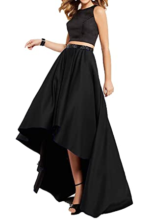 Little Star Black Homecoming Dresses 2018 For Juniors Two Piece Prom Dresses Ball Gowns Formal Dresses