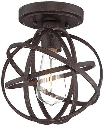 """Bronze Ceiling Lights: Industrial Atom 8"""" Wide Edison Bronze Ceiling Light,Lighting"""