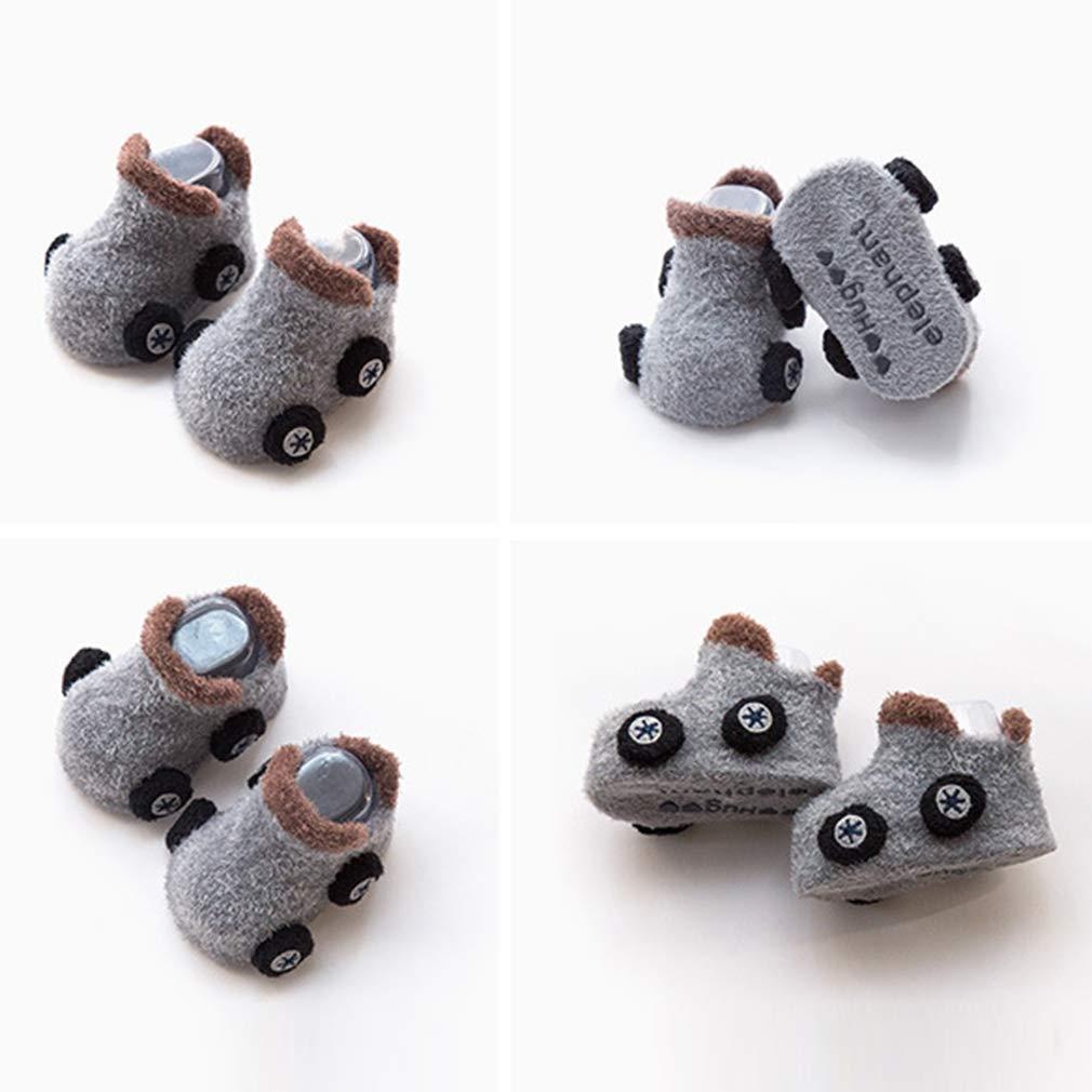Polyester Thick Warm Xiang Ru 1 pair Newborn Baby Socks Anti-slip Car
