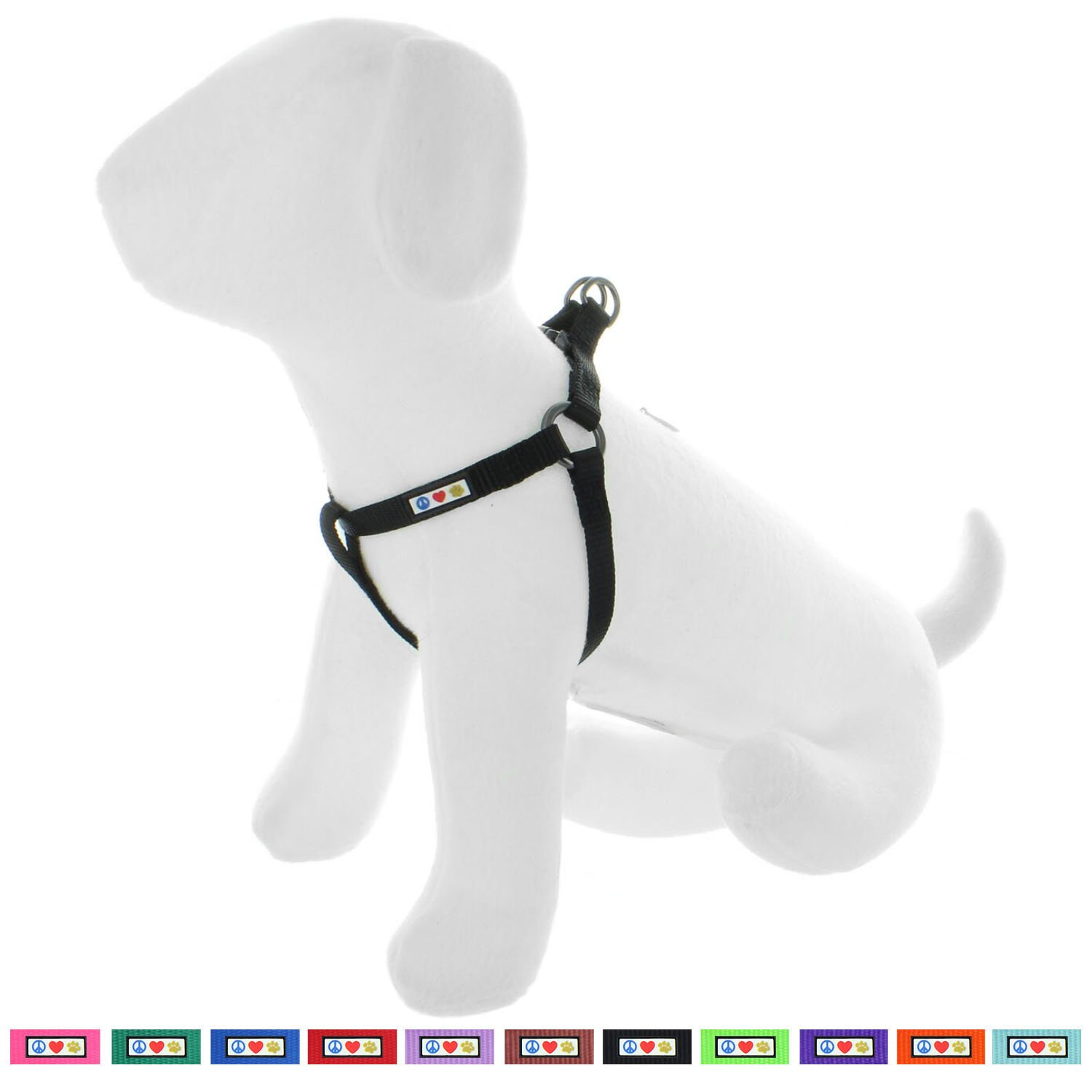Pawtitas Pet Solid Color Step in Dog Harness, Step in or Vest Harness, Comfort Control, Training Walking of Your Puppy/Dog Small Dog Harness S Dog Harness Black