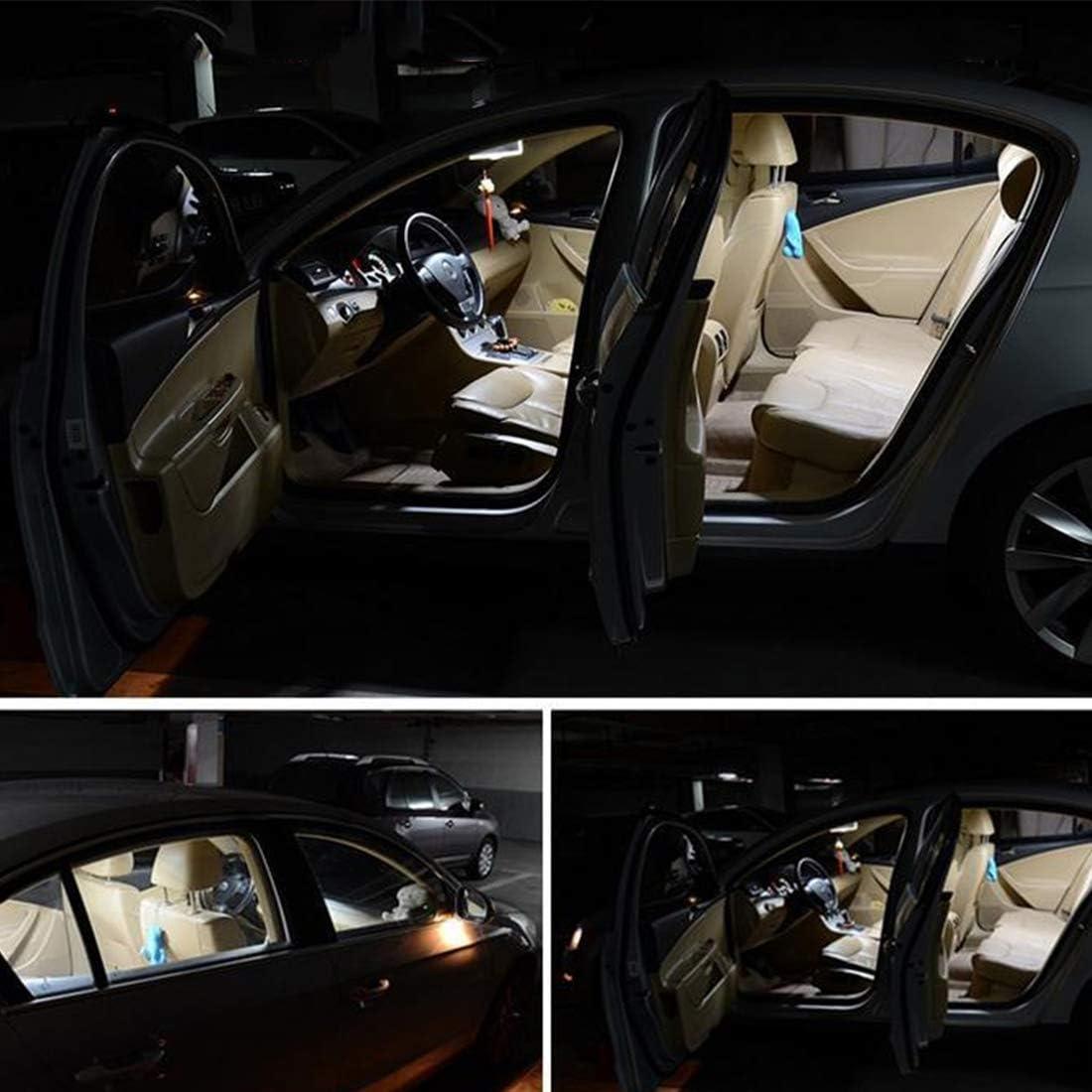 DC 12V Color : White Light Auto-Innenbeleuchtung 2 PCS 2W 100 LM 6000K 41MM Bicuspid Portauto-Dome-Lampe LED-Leselicht mit 16 SMD-4014 LED-Lampen wei/ßes Licht Auto-Innenleuchten