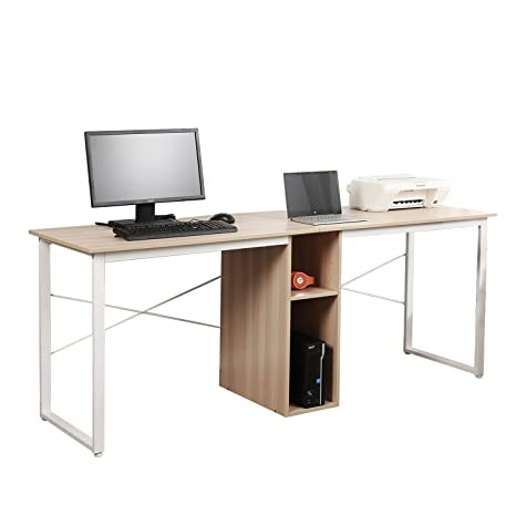 Fabulous Amazon Com Soges 2 Person Home Office Desk 78 Inches Large Beutiful Home Inspiration Ommitmahrainfo