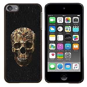 YiPhone /// Prima de resorte delgada de la cubierta del caso de Shell Armor - Cráneo de Halloween Evil Death Metal - Apple iPod Touch 6 6th Touch6