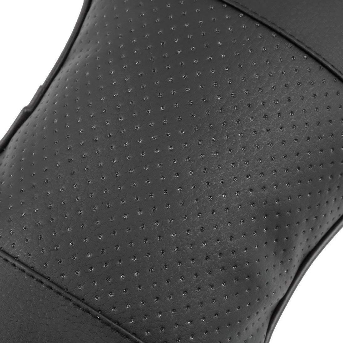 Baynne Universal Solid Bone Shape Headrest Pillow Breathable PU Leather Cloth Car Head Neck Rest Cushion Auto Interior Accessories