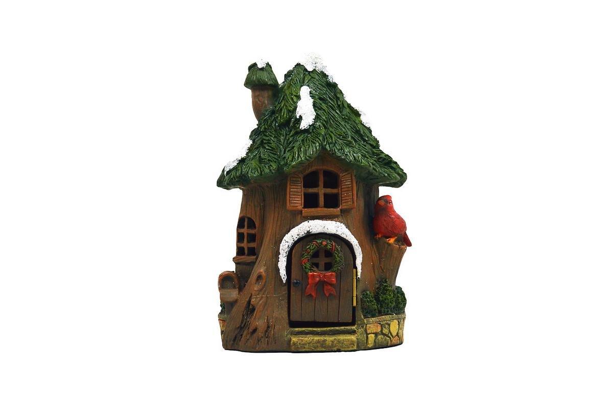 My Fairy Gardens Christmas Miniature - Christmas Cardinal House - Mini Dollhouse