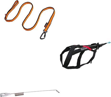Non-stop dogwear El kit de antena para bicicleta incluye antena, línea elástica de 2,8 metros y arnés acolchado de Freemotion para Bikejøring y ...