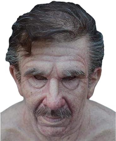 SDERS Maschera di Halloween uomo Vecchio Calvo realistico ...