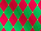 Pack of 1, Red & Green Harlequin 30'' x 833' Full Ream Gift Wrap (Foil) for Holiday, Party, Kids' Birthday, Wedding & Special Occasion Packaging