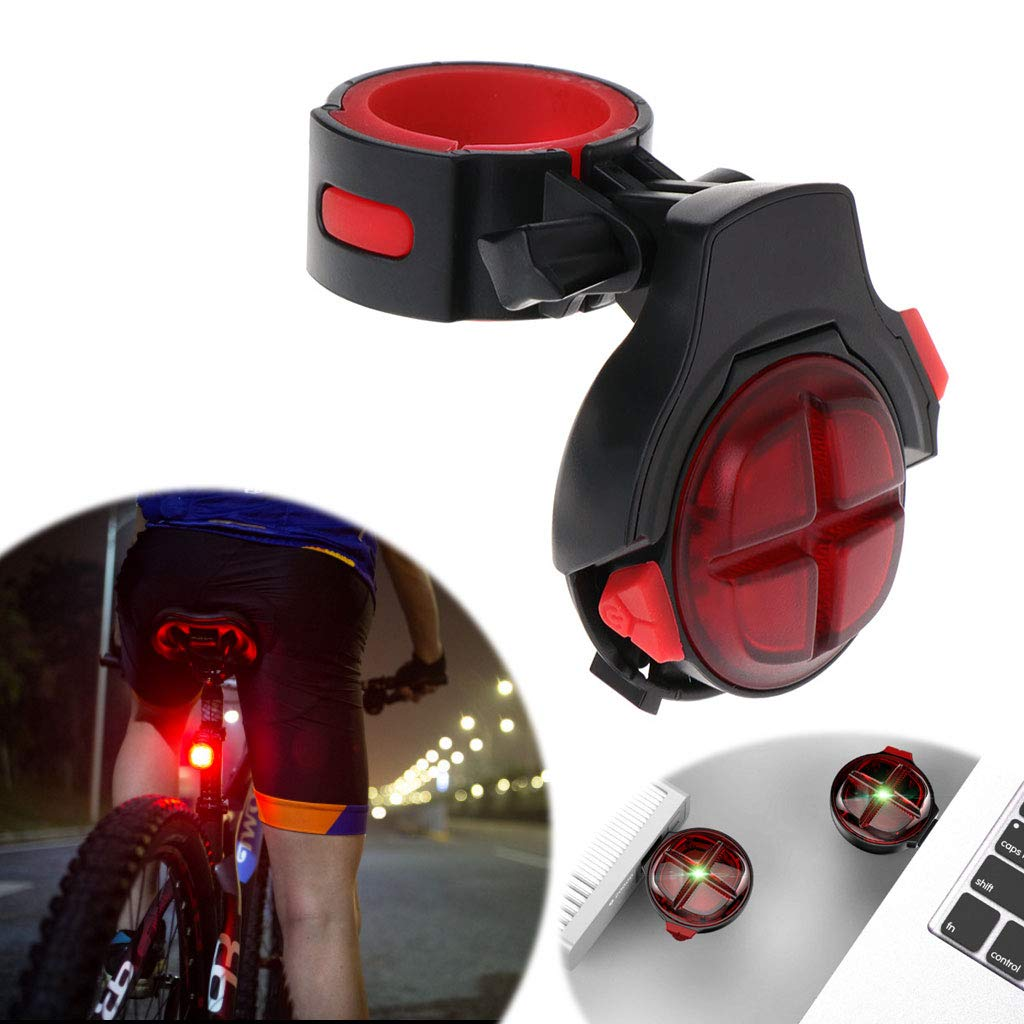 CUTEQ Bicycle Tail Light Brake Sensor Warning Lamp with USB Rechargeable Waterproof for Optimum Cycling Safety at Night by CUTEQ (Image #3)