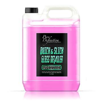 Pure Definition - Garrafa de 5 litros de cera líquida, limpieza y brillo de concesionario: Amazon.es: Coche y moto