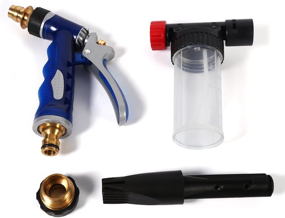 Espray de limpieza de espuma para pistola de lavado de coche 2 en 1 ajustable, pistola de lavado universal Keenso, pistola de limpieza de espuma de alta presión, 100 ml