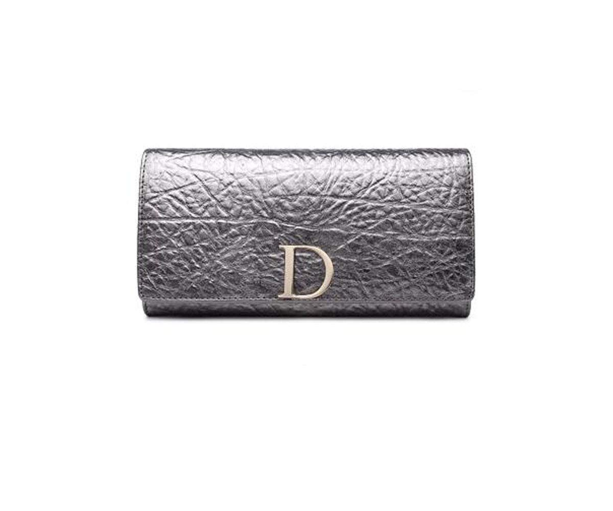 Black Size Aishanghuayi Wallet Color : Silver, Size : 7.61.44 inch 19 3 10 Womens Long Leather Korean Version of The Tide Personality Zipper Multi-Function Clutch cm