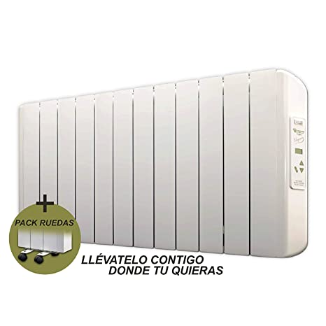 farho Radiador Electrico Bajo Consumo Eco-X + Juego de Ruedas ··· 1500