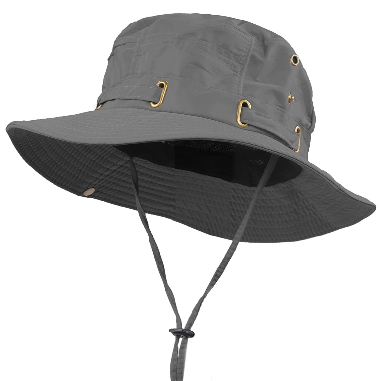 b1054e8cf9e Janey Rubbins Outdoor Explore Waterproof Lightweight Breathable Bush Boonie  Bucket Fishing Hat WBH-green