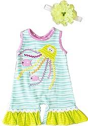 987ffa6da Peaches 'n Cream Adorable Jellyfish Romper & Headband Outfit