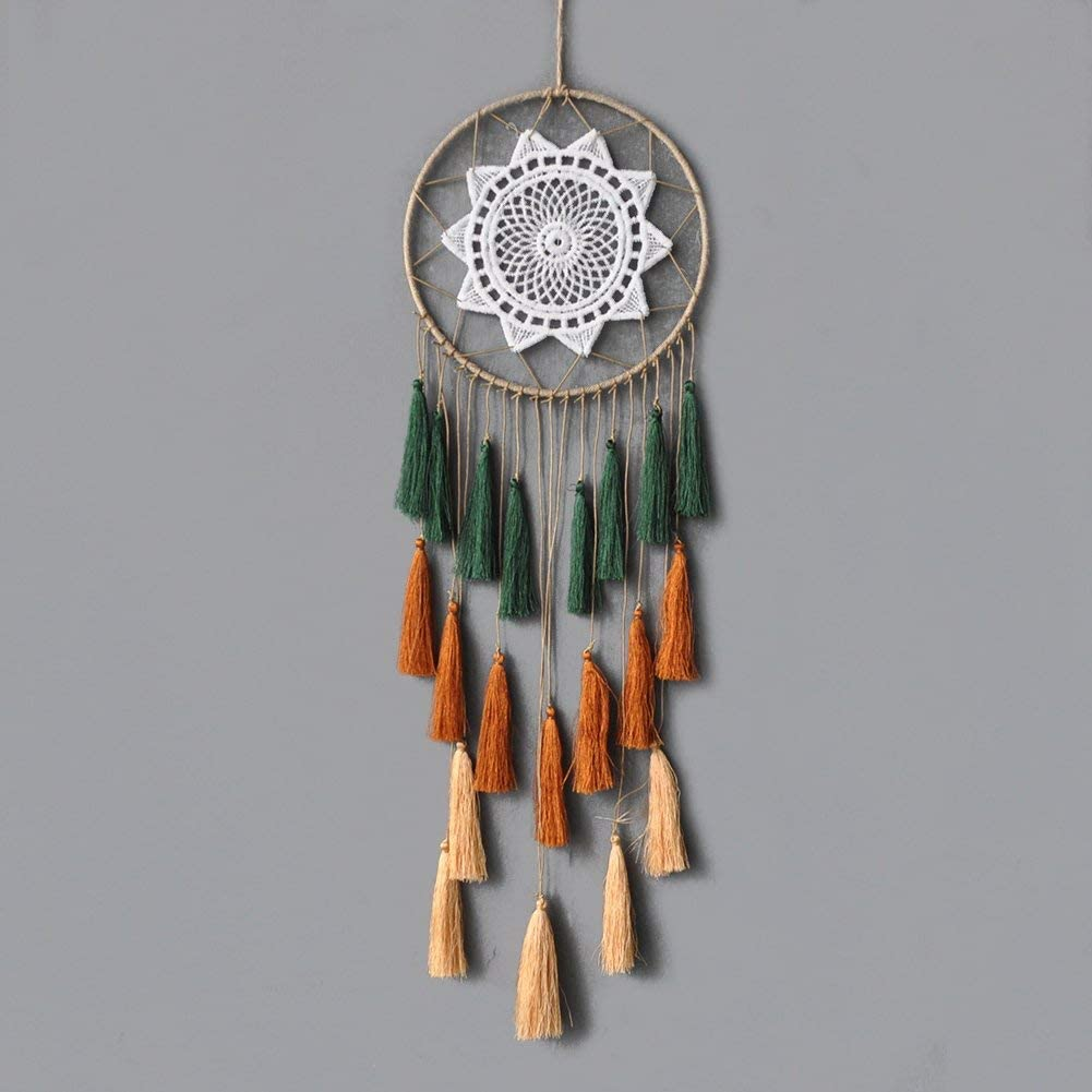 Ilaws 8x20 Inch Mix 3 Colors with 3 Stairs Tassel Dream Catchers Handmade for Wall Hanging Home Decoration