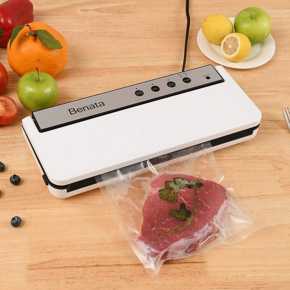 Basic of Vacuum Sealer Machine, Dry & Moist Modes Automatic Food Sealer, Additional 2 vacuum rolls
