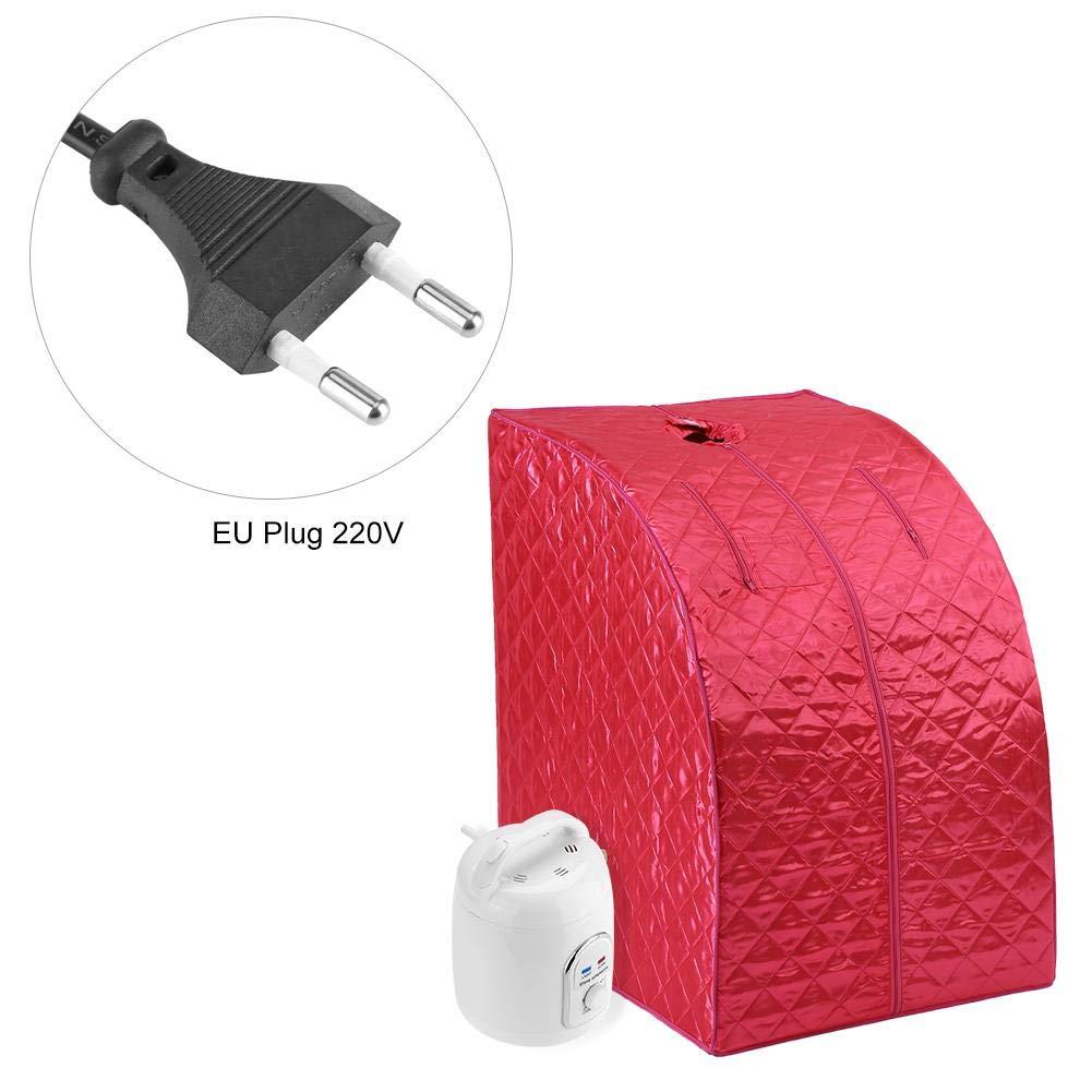 SPA Reducir El Estr/és Y La Fatiga EU Stecker Sauna Port/átil Asixx Sauna Eliminar Toxinas Sauna Vapor con La Olla de Vapor para Perder Peso