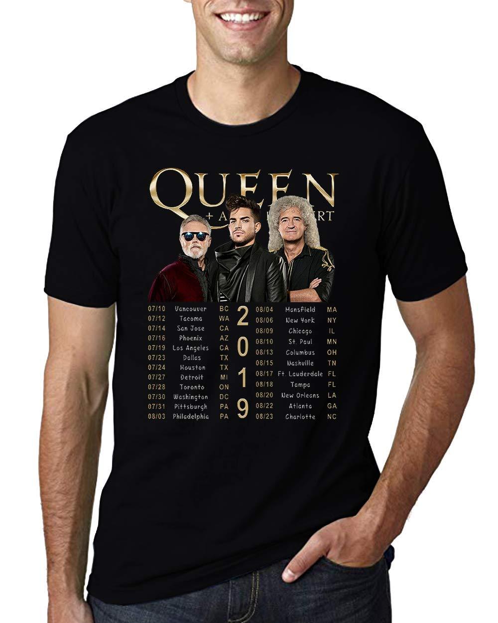Queen And Adam Lambert Rhapsody Concert Tour 2019 Tshirt Black Shirt