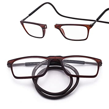 Amazon.com: Adjustable front detachable hanging neck reading glasses ...