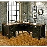 Martin Furniture Hartford L-Shaped Desk, Brown Review