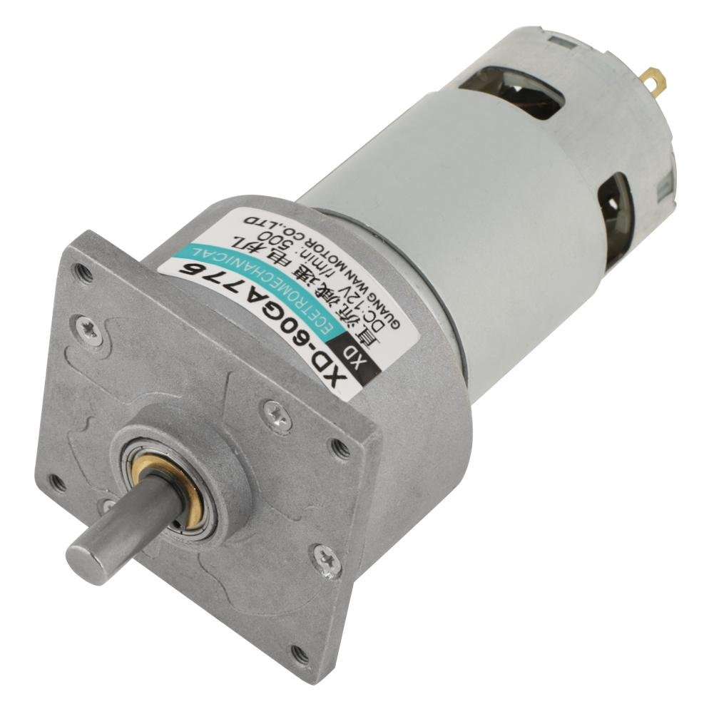 DC 12/24V 35W Adjustable Micro Speed Reducer Gear Motor CW/CCW Mini High Torque Speed Reduction Gearbox (12V 600RPM) Walfront
