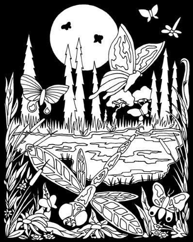 Butterfly Poster Velvet (Darice 16-Inch by 20-Inch Velvet Art Set, Butterfly Meadow)