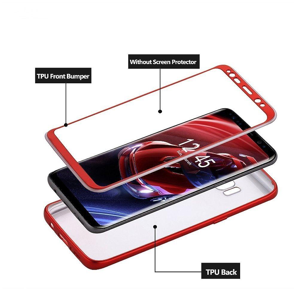 Vanki/® Coque Galaxy S8 PC+TPU Ultra Rigide L/éger 360 Case Degres Souple 2-en-1 R/écurer Protector Shell Samsung Galaxy S8 Plus