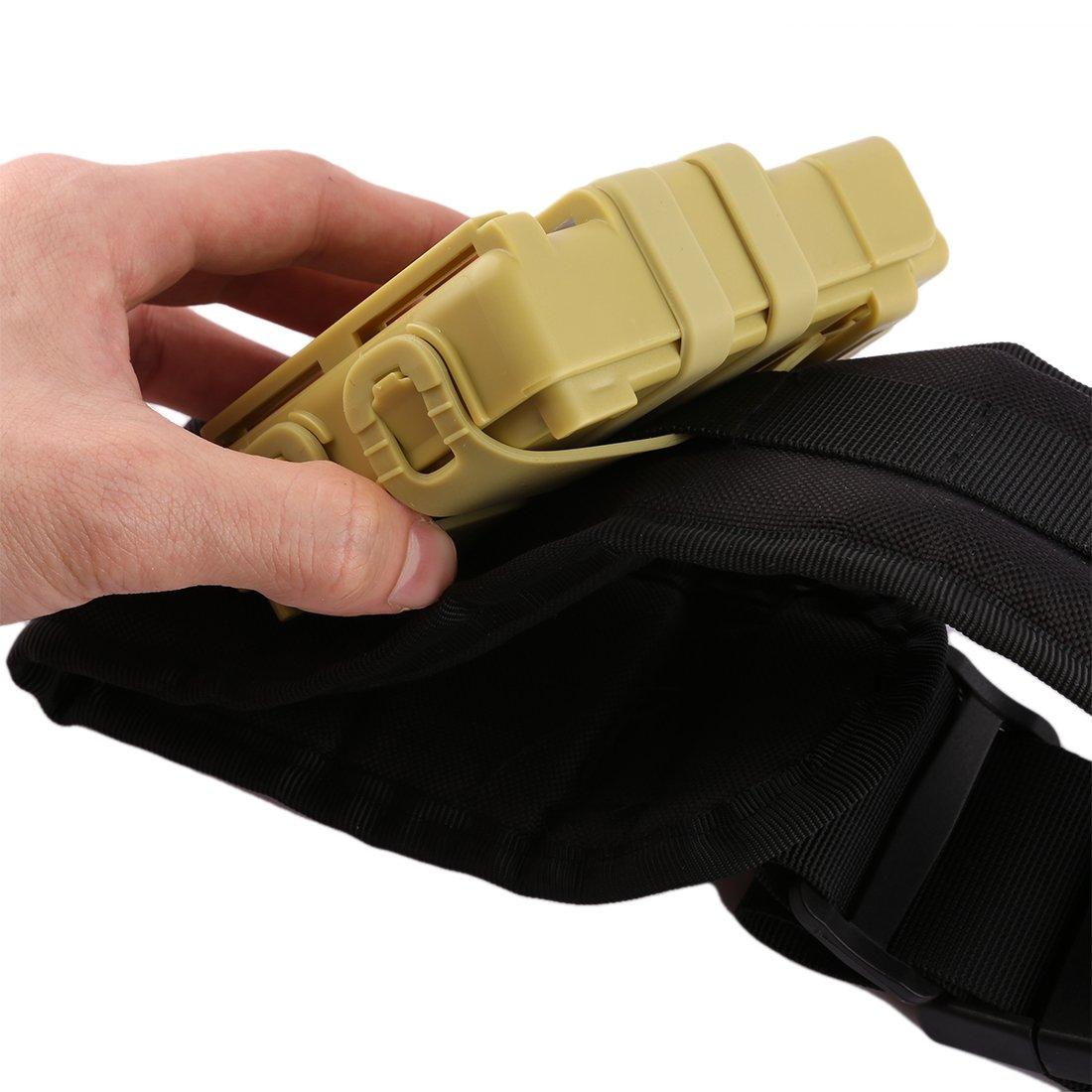 Mecotech 4 Stück 12-Dart Bullet Bullet Bullet Clip Magazin mit 2 Stück Mag Halter Holster und 1 Taktischer Gürtel Zubehör Set für Nerf Spielzeugpistole dbead5