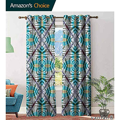 - Big datastore Tie Dye Decor Curtains ByDouble Exposure of Various Figures with Spectral Radiant Tint Blushes Illustration Thermal Insulated Blackout Curtains W72 x L108 Multicolor