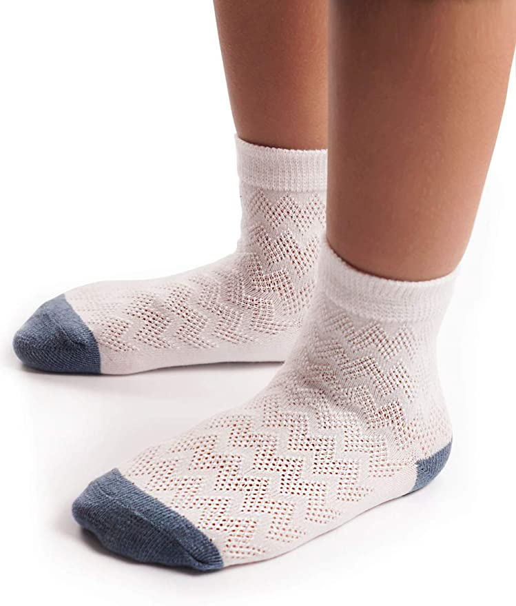 MaoXinTek Baby Ankle Socks 10 Pairs Breathable Warm Cotton Stocking for Toddler Boys Girls 2-4Years