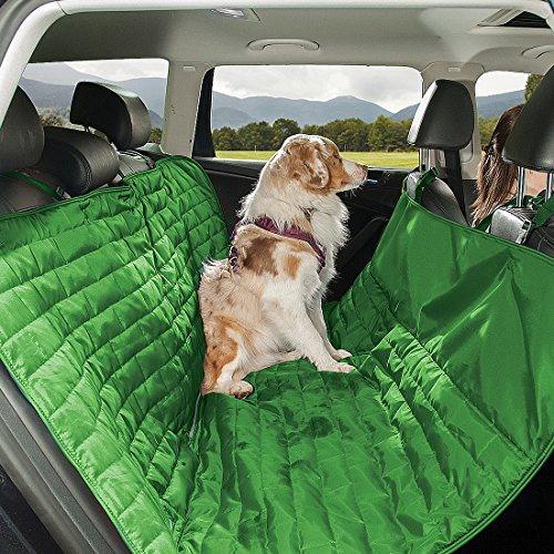 Kurgo Waterproof Loft(TM) Hammock-Style Car Seat Cover for Dogs, Green / Grey by Kurgo