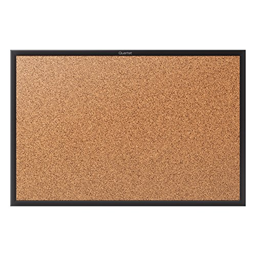 Quartet Cork Bulletin Board, 5 x 3 Feet, Corkboard, Black Frame (2305B) by Quartet