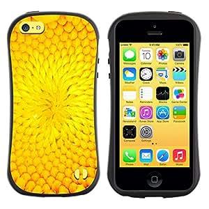 Fuerte Suave TPU GEL Caso Carcasa de Protección Funda para Apple Iphone 5C / Business Style Flower Petal Sunflower Summer