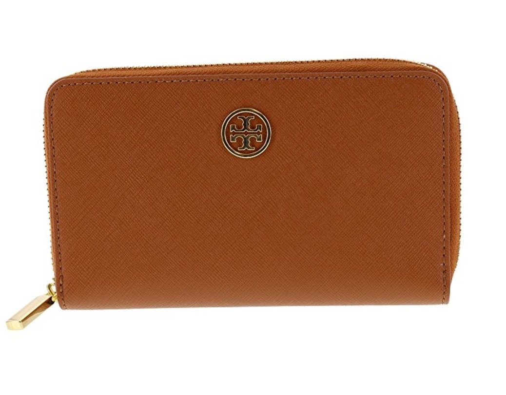 Tory Burch Robinson Mini Continental Saffiano Leather Wallet, Style No 34411 (Luggage) by Tory Burch