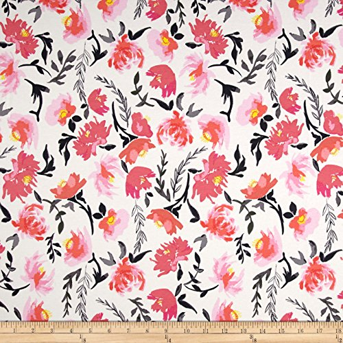 Art Gallery Fabrics Wonderful Things Jersey Knit Aquarelle Study Fabric by the Yard, Tint by Art Gallery Fabrics