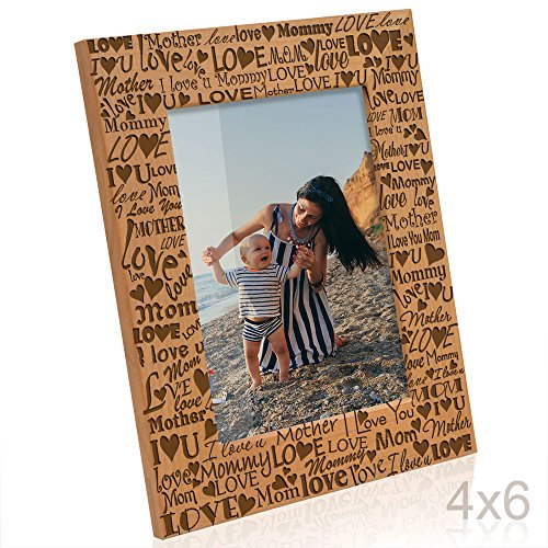 Kate Posh I Love You Mom, Mother, Mommy Picture Frame, Mommy & Me Gifts, New Mom, New Baby, Mother's Day (4x6-Vertical)