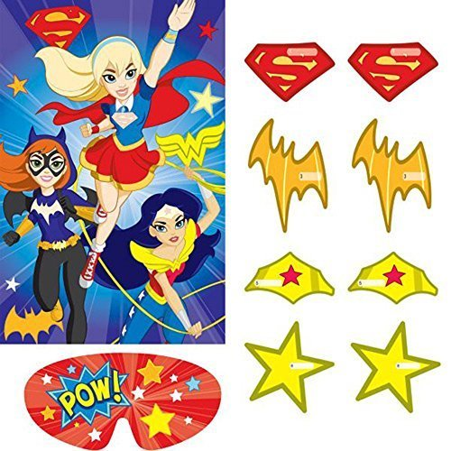 DC Super Hero Girls Party Game Poster (1ct) (Superhero Party Games compare prices)