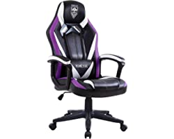 Massage Gaming Chair, Racing Style Computer Chair, Carbon Fibre Modern Video Gaming Chair, Swivel Gaming Desk Chair, High Bac