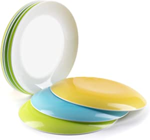 Plastic Plates Dessert Snacks Dinner Small Plate Dishes Tableware Service - Set of 8