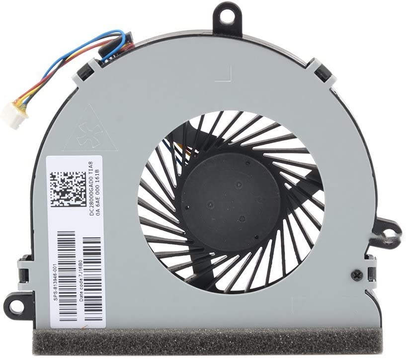 Repuesto Ventilador CPU para hp 250 G4 255 G4 Notebook 15-AC 15-AF Serie, 4-Pin 4-Wire Sps 813946-001