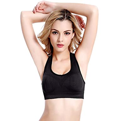 860021e908 Lonew Racerback Sports Bra - Women s High Impact Support Workout Gym ...